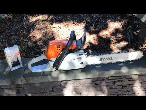 How to stihl chainsaw chain replacement ms251c youtube how to stihl chainsaw chain replacement ms251c greentooth Gallery
