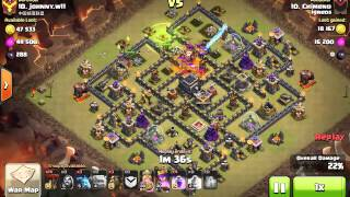 [Clash of Clans] | Shattered Laloon | TH9 | 3stars #014