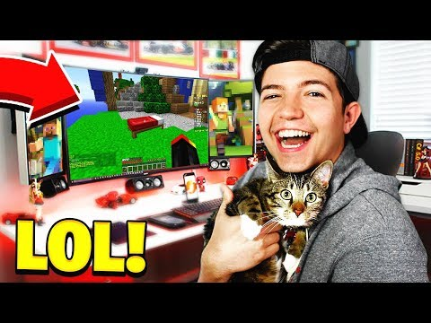 PLAYING MINECRAFT BEDWARS WITH MY CAT!