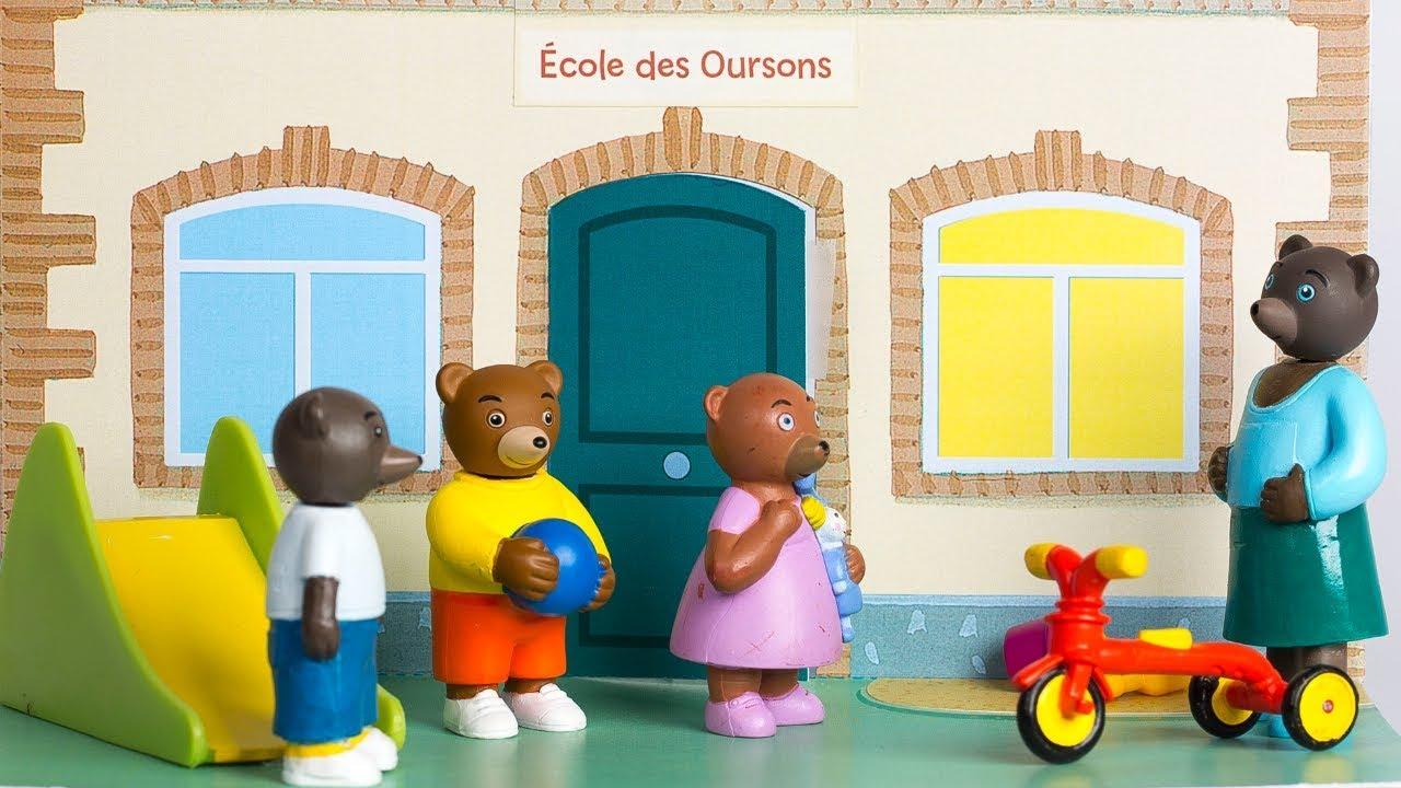 Petit ours brun l 39 cole le stop motion youtube - Petit ours brun a l ecole ...