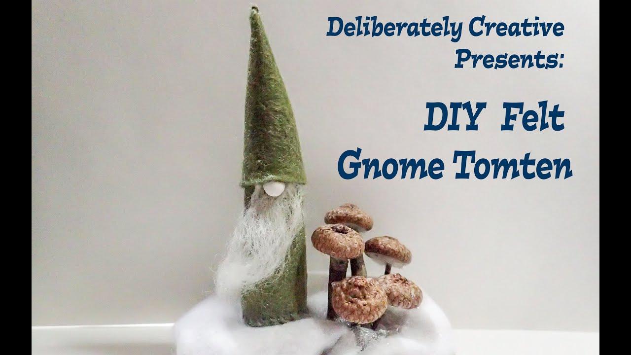 Easy Handmade Diy Felt Gnome Tomte Winter Holiday
