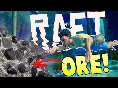 Raft - Deep Water Diving - Finding Rare Ore! - Major Raft Expansion - Raft Gameplay