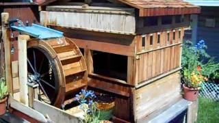 Homemade Wooden Garden Waterwheel