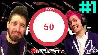 CSGO JACKPOT Sodapoppin & Phantoml0rd OVER 20000$ POT PART #1