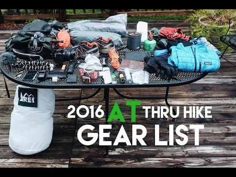 PRE HIKE - My 2016 AT Thru Hike Gear List