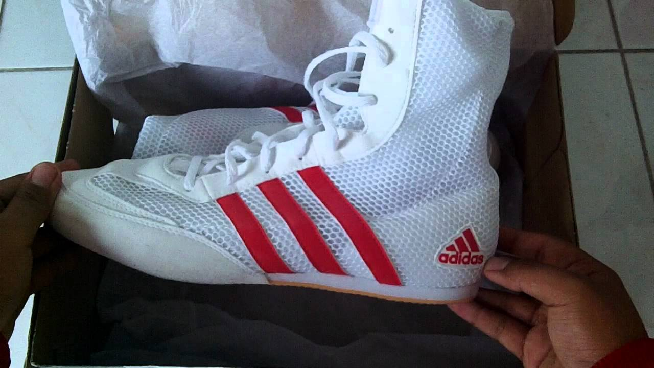 Unboxing Adidas Boxing Boots HD - YouTube