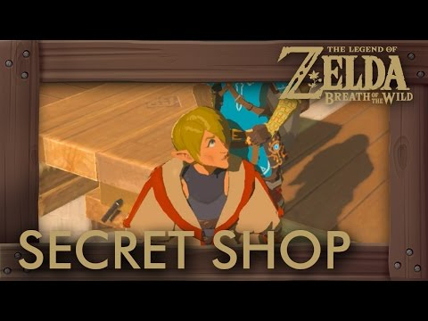 Zelda Breath of the Wild - How to Unlock Secret Shop (New Hylian Shield & Rare Armor)