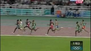 Excepcional vitória - Atletismo prova 800 metros - Olimpíada Atenas 2004