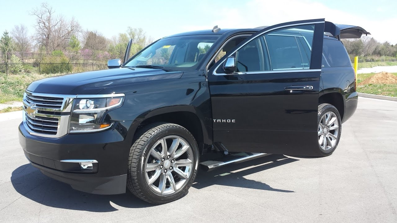 "2015 CHEVROLET TAHOE LTZ 4X4 BLACK GM FACTORY 22""S $71,095 ..."