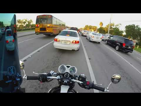 Lane Splitting Rant - Cycle Gear - Coral Springs FL on a Motorcycle