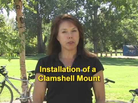 How to install a bicycle seat using a clam shell mount