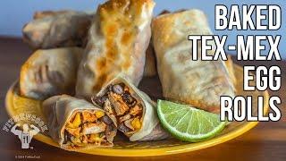 Baked Tex Mex Egg Rolls /  Rollos De Huevo Al Horno Al Estilo Tex Mex