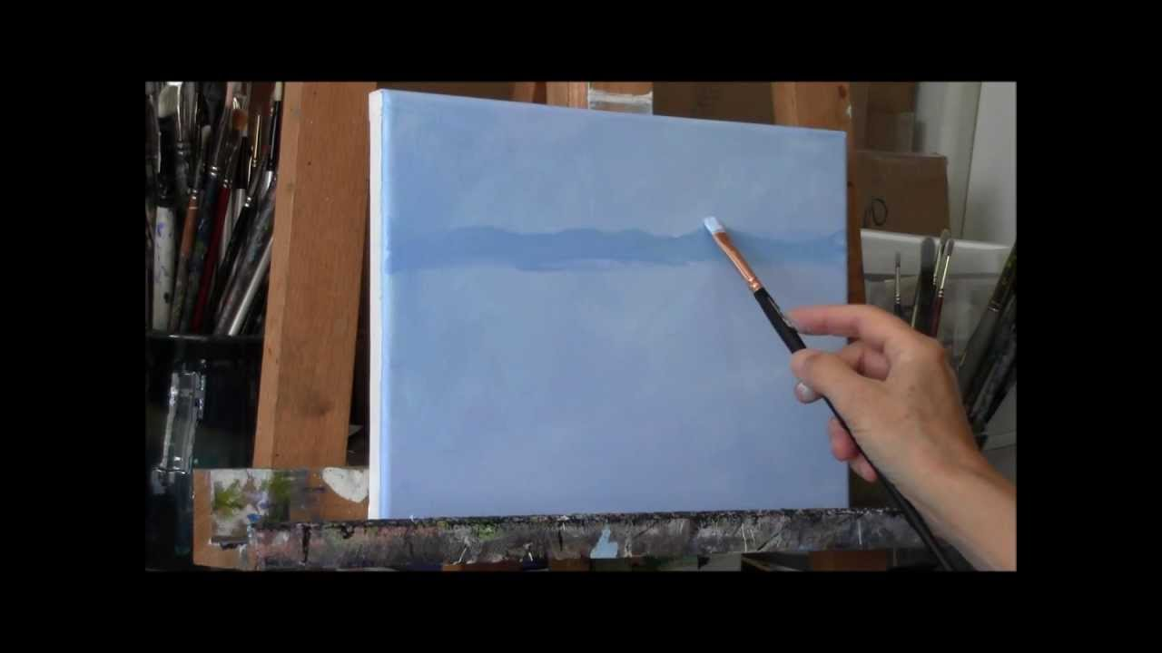 Summer Pond Part 1 Acrylic Country Pond Painting Demo