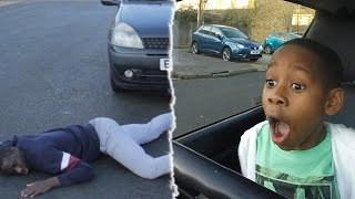 TEACHING A 8 YEAR OLD HOW TO DRIVE *SOMEONE DIES* #2