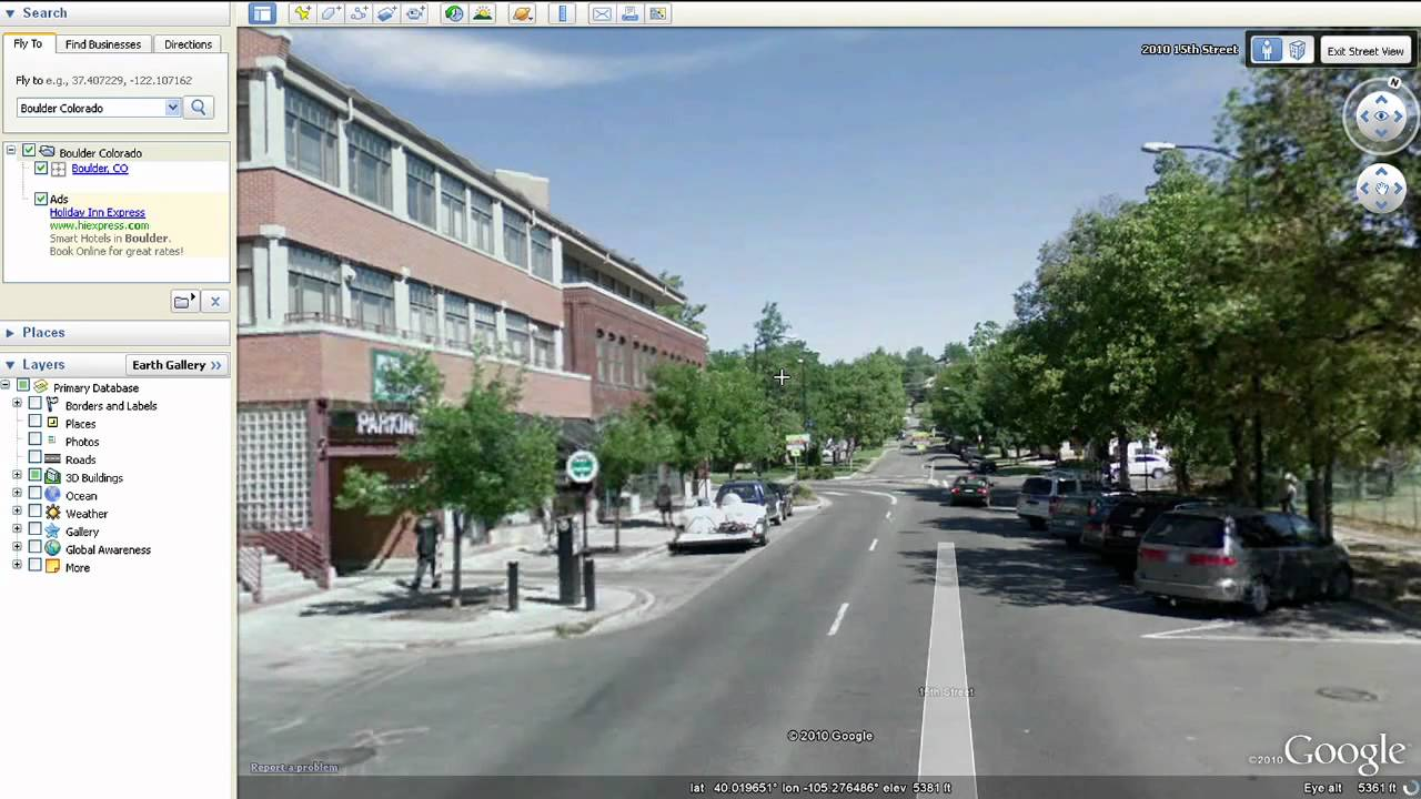 Learn Google Earth Street View YouTube – View Street Map Google Earth