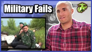 US Marine reacts to Funny Military Fails