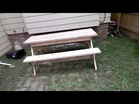 2x4 Picnic Table out if reclaimed lumber