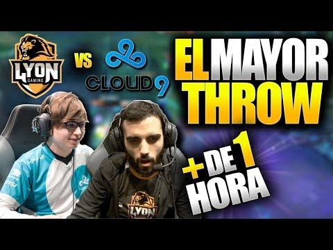 EL MAYOR THROW DE LOS WORLDS (PARTIDA DE +1 HORA) | LYON vs C9 (SERIE COMPLETA)