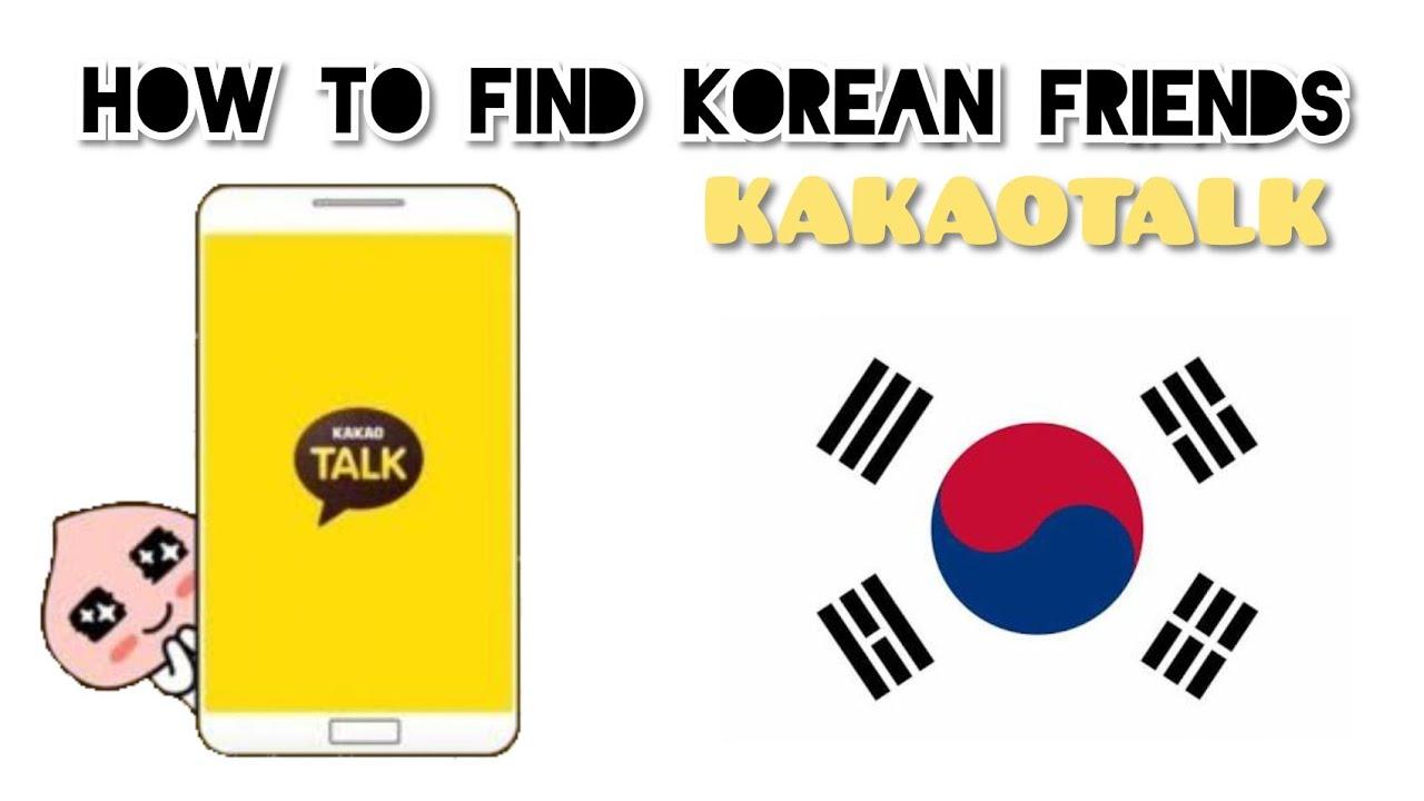 Find korean friends on kakaotalk