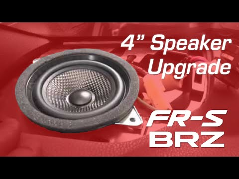 BRZ / FR-S: 4-Inch Speaker Upgrades Install