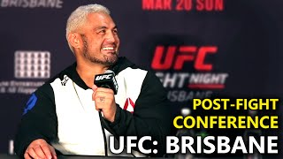 UFC Brisbane: Full Post-Fight Press Conference
