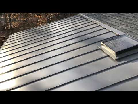 Standing Seam Metal Roof with Skylight