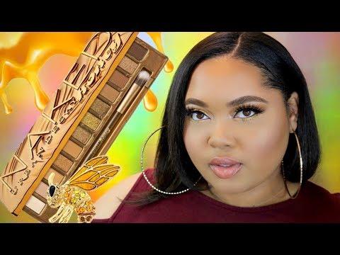 Urban Decay NAKED Honey Palette Tutorial - YouTube