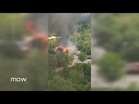 Момент взрыва на заправке в Волгограде попал на видео