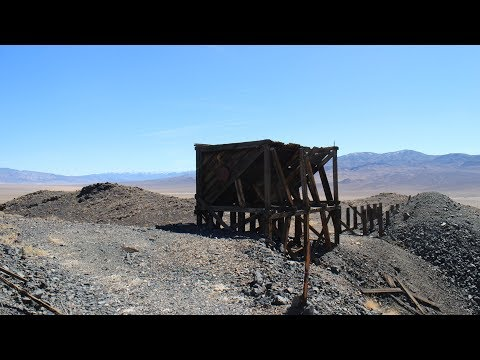 Abandoned mining operation in the desert exploration