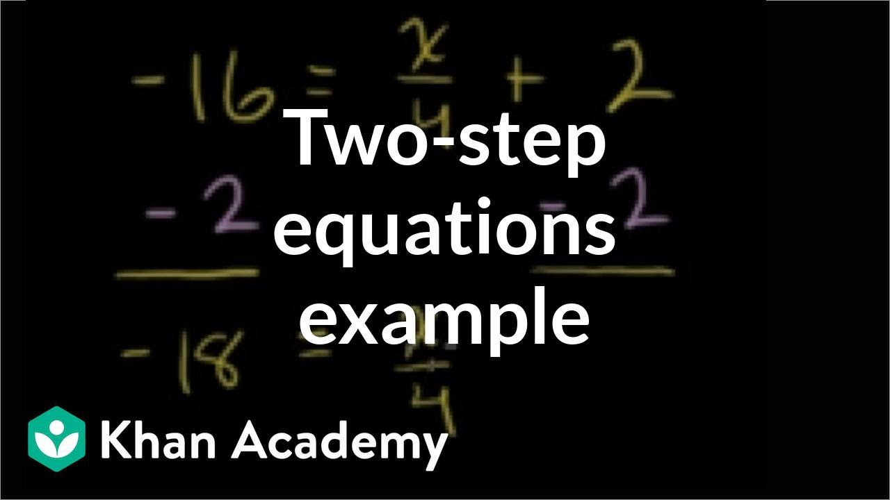 Worked example: two-step equations  Algebra (video)  Khan Academy