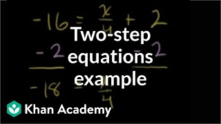 Example: two-step equation with numerator x | Linear equations | Algebra I | Khan Academy thumbnail