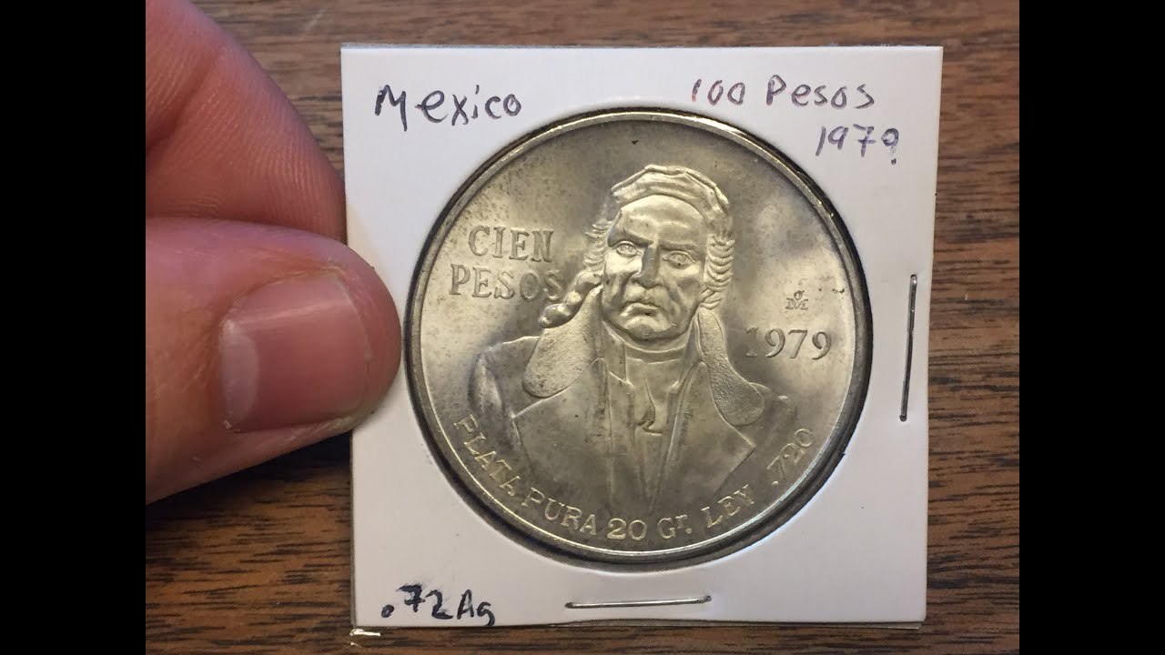Mexico 100 Peso 1979 Large Silver Coin Of The Week Mar 14