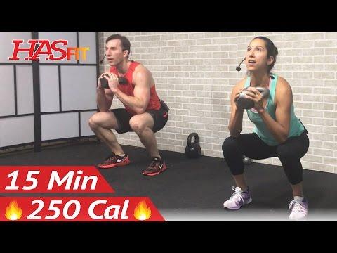 15 Min Kettlebell Workout Kettlebell Workouts for Fat Loss & Strength Training Exercises Men Women