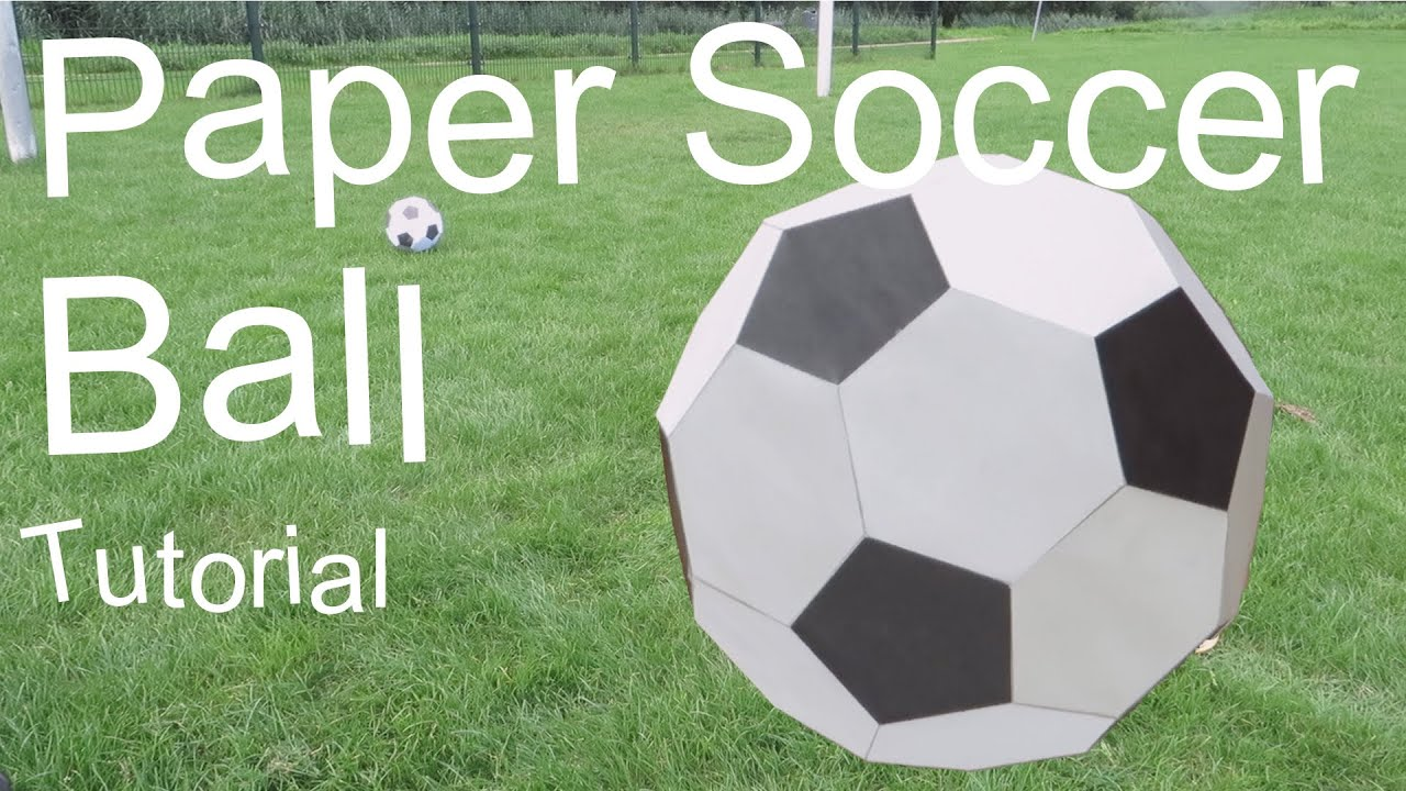 Paper Soccer Ball Tutorial