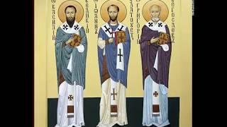 Святителям Василию Великому,Григорию Богослову,Иоанну Златоусту, Тропарь