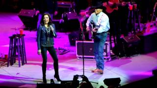 "George Strait with Martina Mcbride 2-28-14 ""Jackson"" Philadelphia,PA"