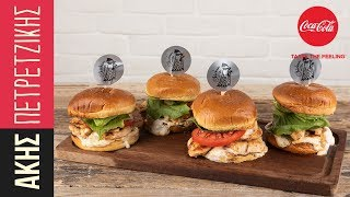 Healthy burger με κοτόπουλο | Kitchen Lab by Akis Petretzikis
