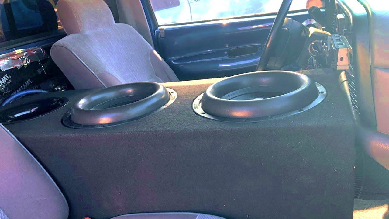 Fits Regular Cab//Single cabs//Standard cabs 12 Dual Ported subwoofer Enclosure