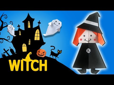HALLOWEEN (2018) WITCH Paper Craft 🧙 Easy DIY Paper Crafts 🧙 [4K]