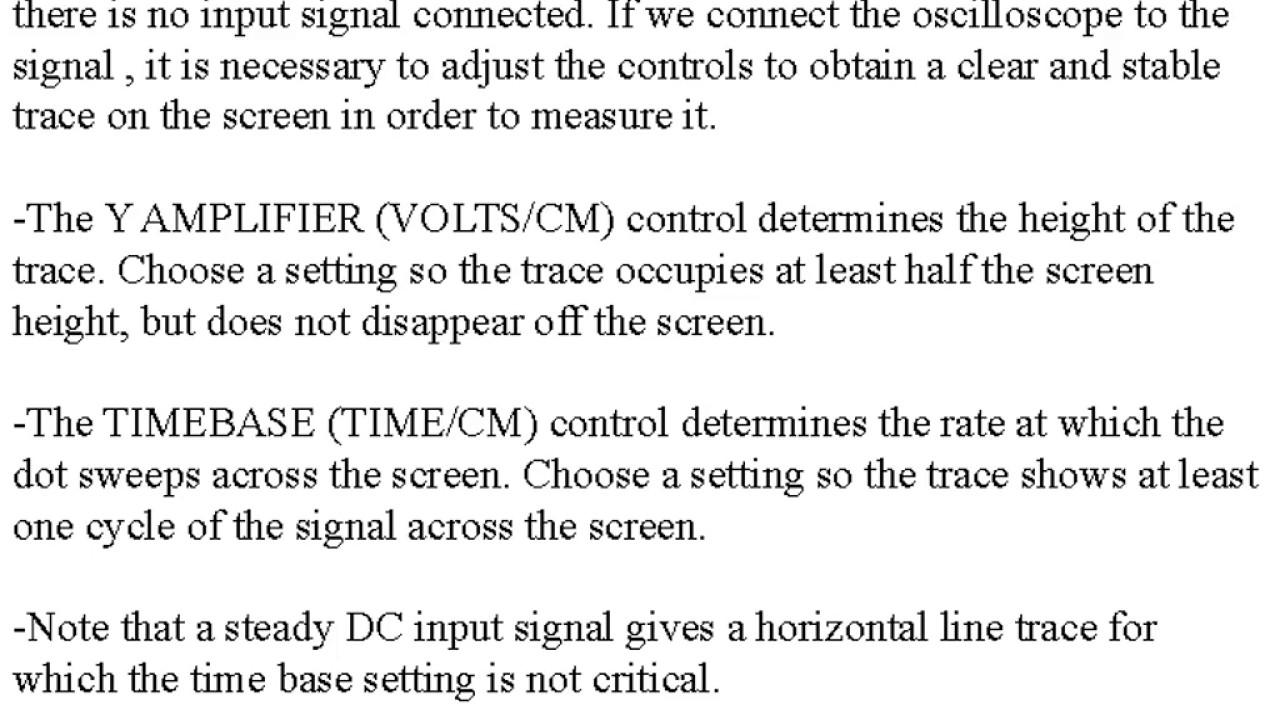 cathode ray oscilloscope experiment pdf