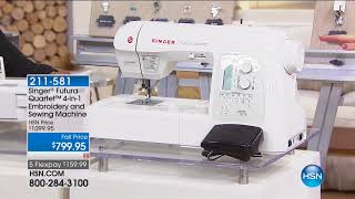 HSN   Sewing Solutions featuring Singer 09.06.2017 - 02 PM