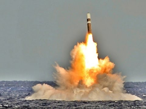 Royal Navy Test Launches Trident II Nuclear SLBM [HD]