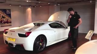 Picking up my new 2013 Ferrari 458 Spider
