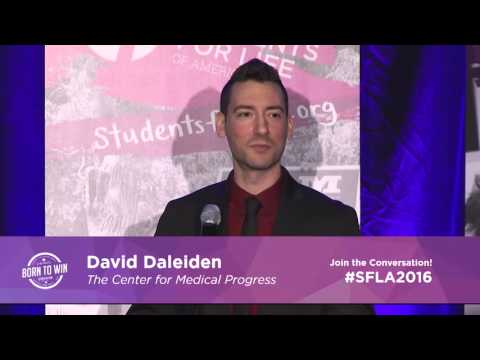 David Daleiden at the #2016SFLA West Coast Conference