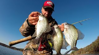 Fall Crappie Fishing Techniques - Jigging For Suspended Crappie