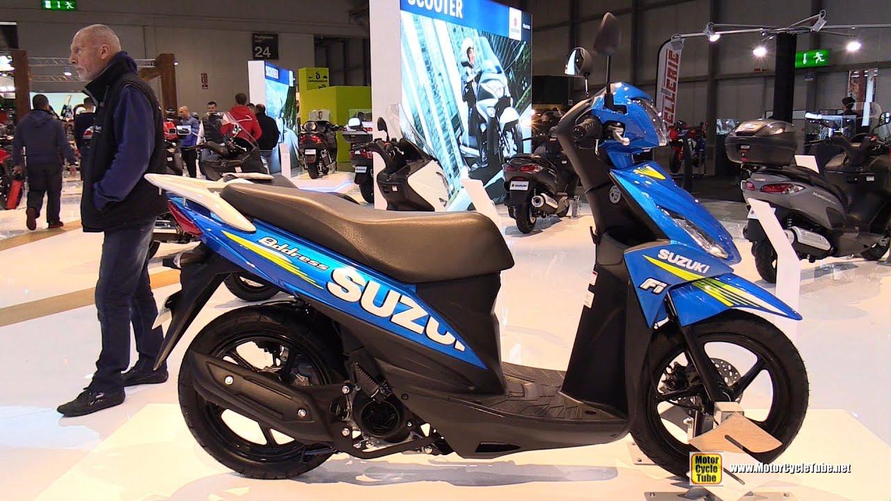 2016 Suzuki Address 110 Scooter - Walkaround - 2015 EICMA Milan - YouTube