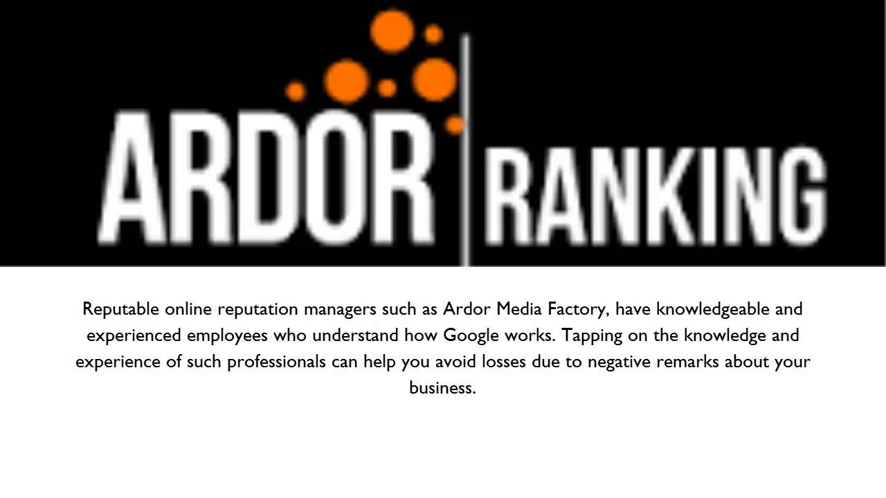 Ardor Media Factory: Maintaining a Sterling Online Reputation: The Four Useful Tips