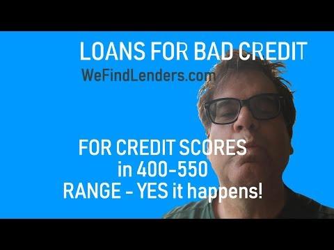 400 500-550 Credit Score Loans For Bad Credit Credit Applicants