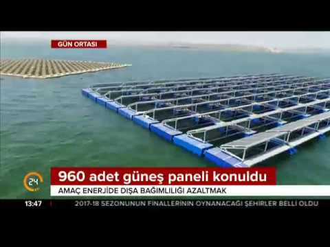 Türkiye'nin ilk yüzer güneş enerji santrali Büyükçekmece Gölü'nde