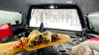 Blizzards and Burritos: Camp & Cook In My Truck